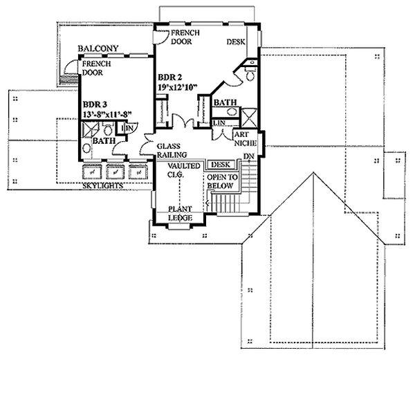 Farmhouse Floor Plan - Upper Floor Plan Plan #118-121