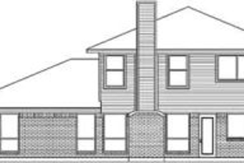 Traditional Exterior - Rear Elevation Plan #84-180 - Houseplans.com