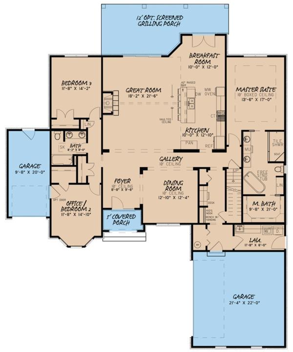 European Floor Plan - Main Floor Plan Plan #923-82