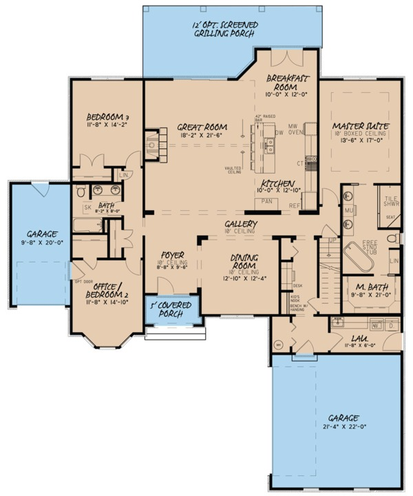 House Plan Design - European Floor Plan - Main Floor Plan #923-82