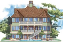 Craftsman Exterior - Rear Elevation Plan #930-138