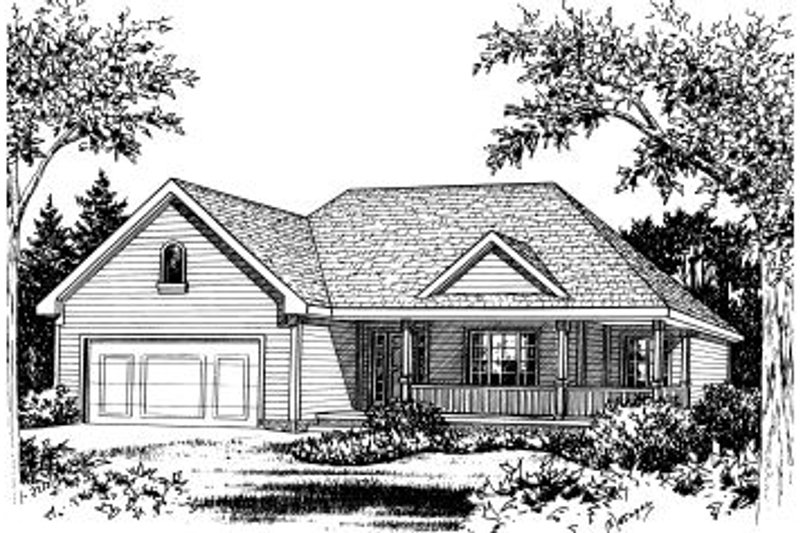 Traditional Exterior - Front Elevation Plan #20-579 - Houseplans.com