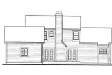 Southern Exterior - Rear Elevation Plan #3-176