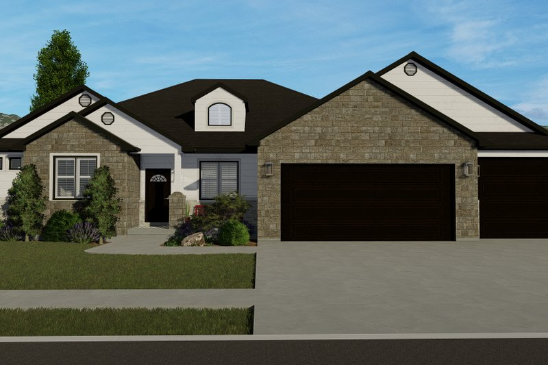 Ranch Exterior - Front Elevation Plan #1060-30