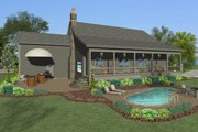 Craftsman Style House Plan - 4 Beds 3 Baths 1898 Sq/Ft Plan #56-706 Exterior - Rear Elevation
