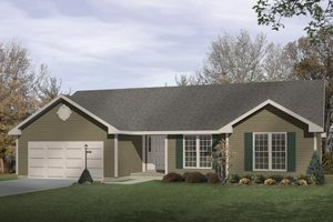 Ranch Exterior - Front Elevation Plan #22-102