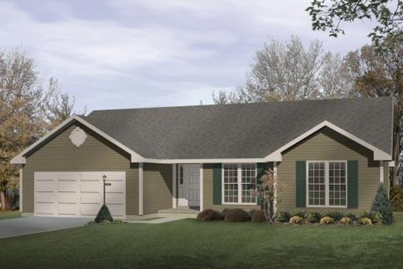 Ranch Style House Plan - 3 Beds 2 Baths 1558 Sq/Ft Plan #22-102