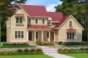 Farmhouse Style House Plan - 4 Beds 4 Baths 2760 Sq/Ft Plan #927-981 Exterior - Front Elevation