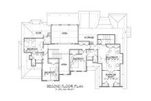 Traditional Floor Plan - Upper Floor Plan Plan #1054-83
