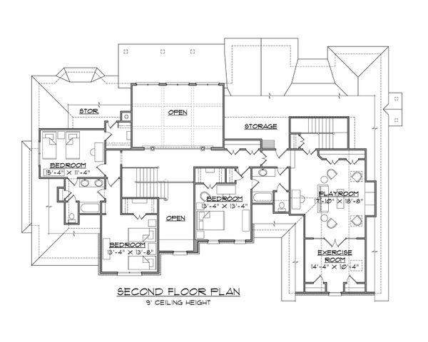 Dream House Plan - Traditional Floor Plan - Upper Floor Plan #1054-83