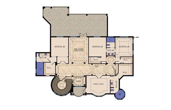 Mediterranean Floor Plan - Upper Floor Plan #548-11