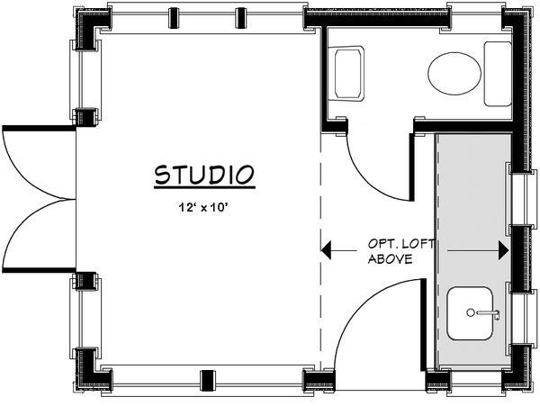 European Floor Plan - Main Floor Plan Plan #917-22