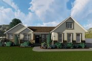 Ranch Style House Plan - 2 Beds 2 Baths 1767 Sq/Ft Plan #1060-2 Exterior - Front Elevation