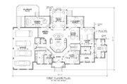 European Style House Plan - 5 Beds 5.5 Baths 4792 Sq/Ft Plan #1054-76 Floor Plan - Main Floor