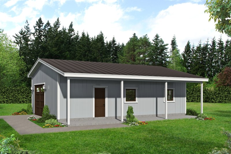 Dream House Plan - Contemporary Exterior - Front Elevation Plan #932-85