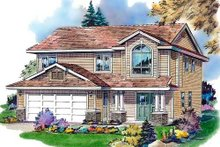 House Blueprint - Traditional Exterior - Front Elevation Plan #18-273