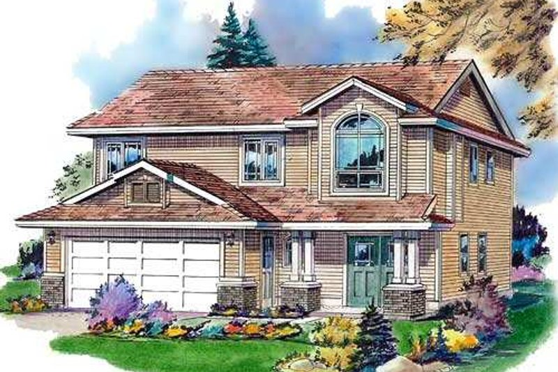 Traditional Exterior - Front Elevation Plan #18-273