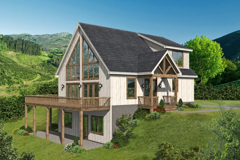 Home Plan - Farmhouse Exterior - Front Elevation Plan #932-387