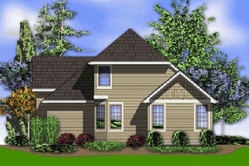 Traditional Exterior - Rear Elevation Plan #48-375 - Houseplans.com