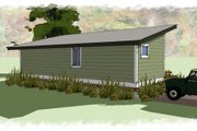 Modern Style House Plan - 1 Beds 1 Baths 640 Sq/Ft Plan #449-14 Exterior - Rear Elevation