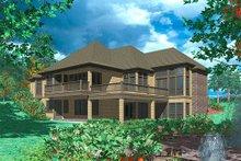 Dream House Plan - European Exterior - Rear Elevation Plan #48-133