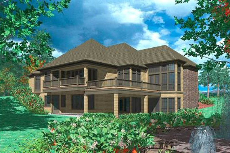 European Exterior - Rear Elevation Plan #48-133 - Houseplans.com
