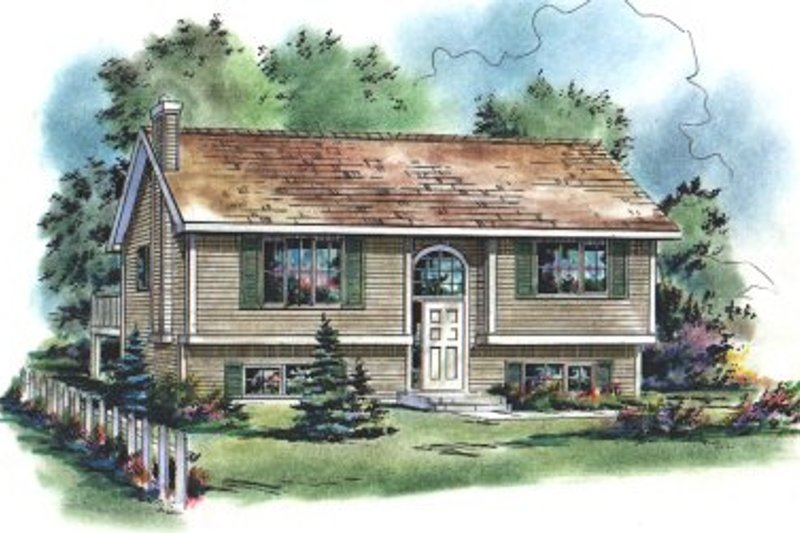 Home Plan - Contemporary Exterior - Front Elevation Plan #18-310
