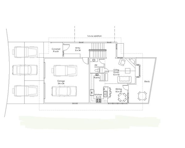 Modern Floor Plan - Main Floor Plan Plan #902-3