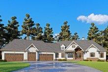 Dream House Plan - Craftsman Exterior - Front Elevation Plan #437-116