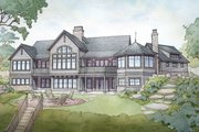 Traditional Style House Plan - 4 Beds 3.5 Baths 2967 Sq/Ft Plan #928-332 Exterior - Rear Elevation