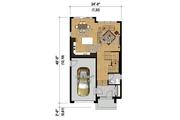 Contemporary Style House Plan - 3 Beds 1 Baths 1570 Sq/Ft Plan #25-4424 Floor Plan - Main Floor Plan
