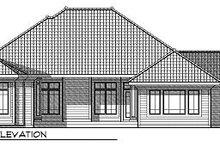 Dream House Plan - European Exterior - Rear Elevation Plan #70-872