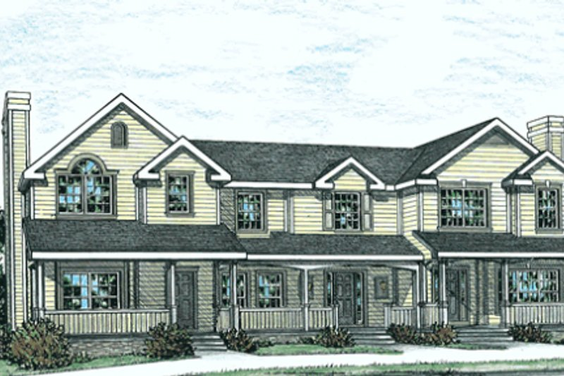 Traditional Exterior - Front Elevation Plan #20-402 - Houseplans.com