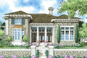 Home Plan - Mediterranean Exterior - Front Elevation Plan #930-280