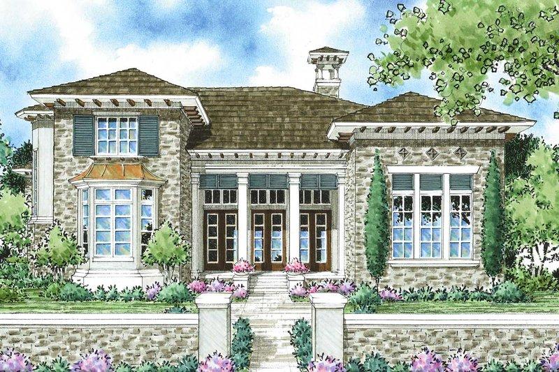 House Plan Design - Mediterranean Exterior - Front Elevation Plan #930-280