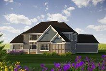 Dream House Plan - Craftsman Exterior - Rear Elevation Plan #70-1233