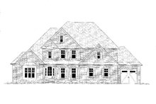 Dream House Plan - Traditional Exterior - Front Elevation Plan #437-118