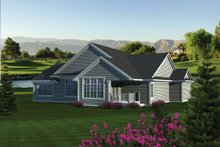 Home Plan Design - Ranch Exterior - Rear Elevation Plan #70-1085