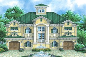 Mediterranean Exterior - Front Elevation Plan #548-8