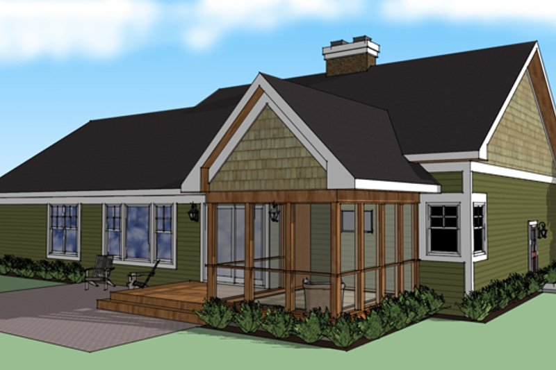 Craftsman Exterior - Rear Elevation Plan #51-512 - Houseplans.com