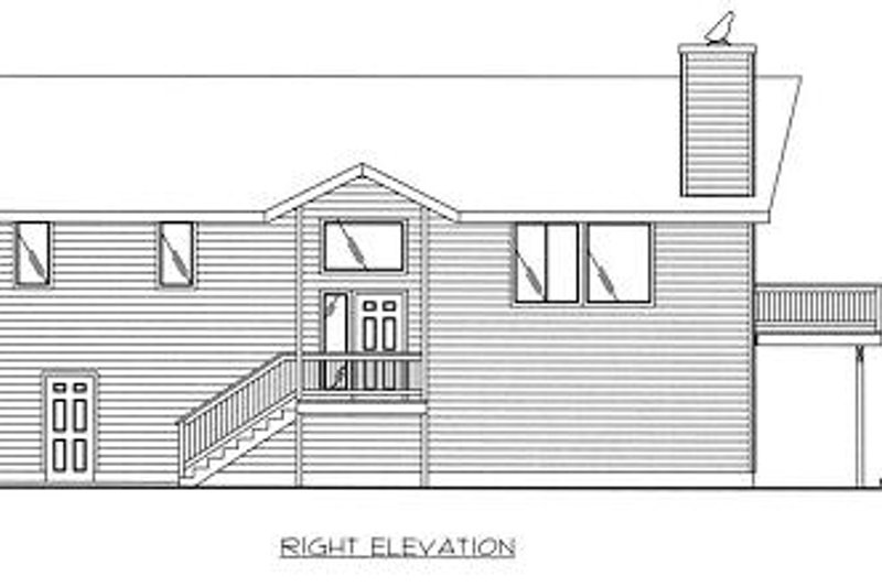 Traditional Exterior - Other Elevation Plan #117-516 - Houseplans.com