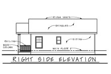 House Plan Design - Cottage Exterior - Other Elevation Plan #20-2364