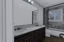 Ranch Interior - Master Bathroom Plan #1060-13