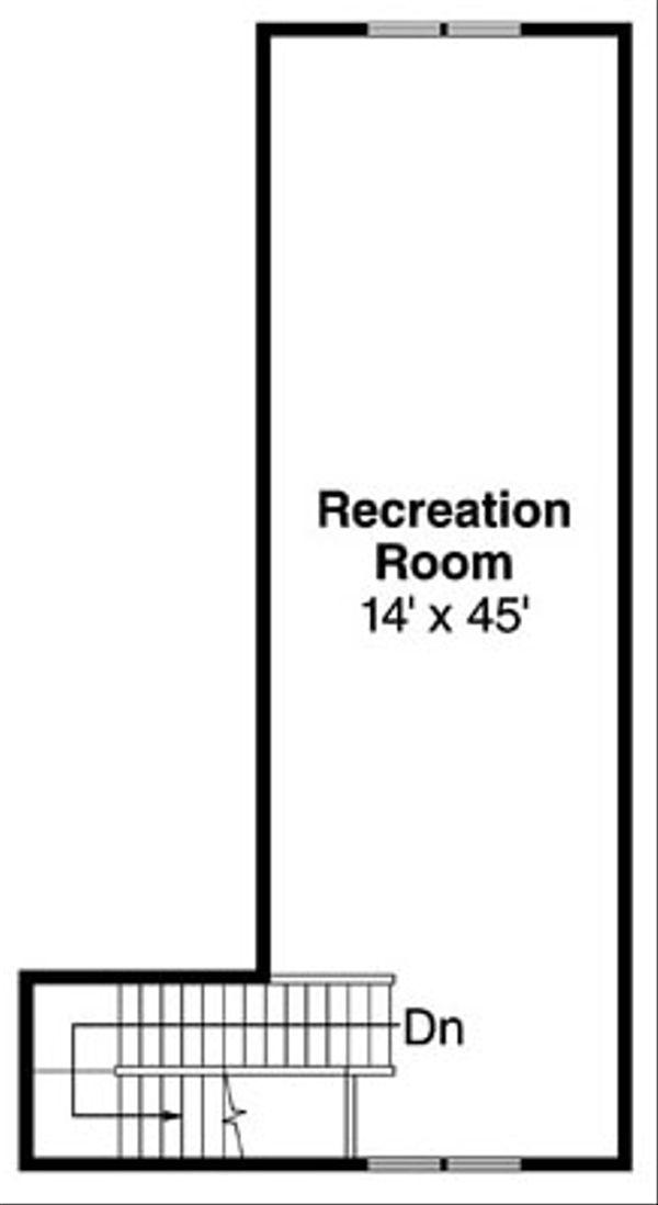 Craftsman Floor Plan - Upper Floor Plan Plan #124-797