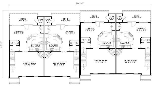 Traditional Floor Plan - Main Floor Plan Plan #17-1174