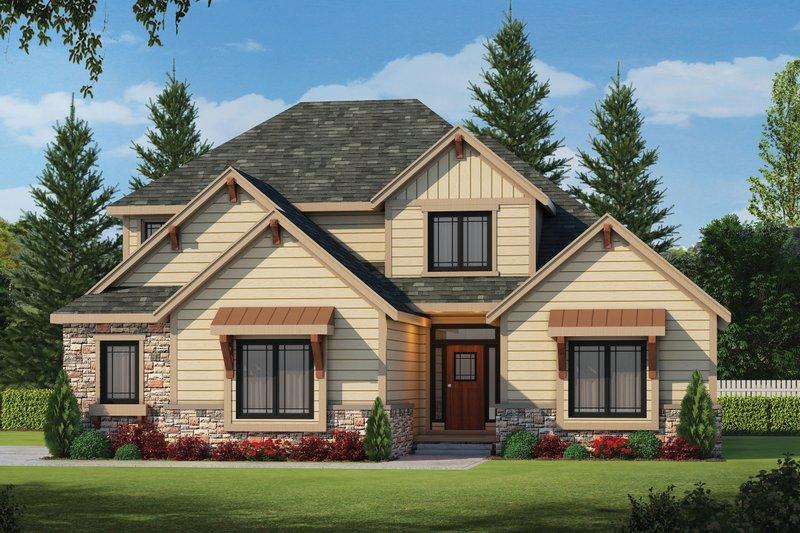 Architectural House Design - Craftsman Exterior - Front Elevation Plan #20-2243