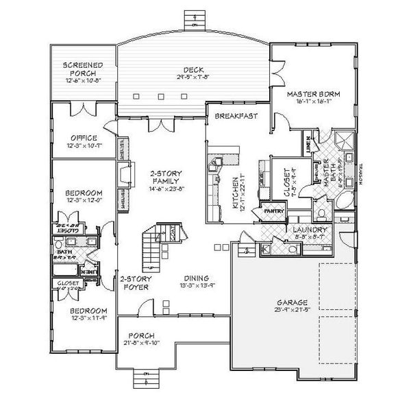 Traditional Floor Plan - Main Floor Plan Plan #898-1