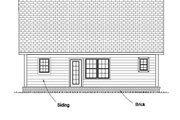 Cottage Style House Plan - 3 Beds 2.5 Baths 1597 Sq/Ft Plan #513-2076 Exterior - Rear Elevation