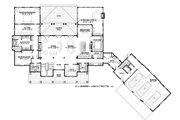 Country Style House Plan - 4 Beds 4.5 Baths 5274 Sq/Ft Plan #928-12 Floor Plan - Main Floor Plan