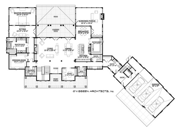 Country Floor Plan - Main Floor Plan Plan #928-12